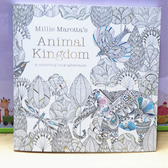 Secret Garden Animal Kingdom Adult Child Coloring Book 1PC Best Christmas Gift Free 12 Pencil