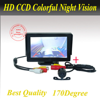High resolution 4.3 Color TFT LCD Car Rearview Camera Monitor 4.3inch car Monitor for DVD Camera VCR with rear view camera