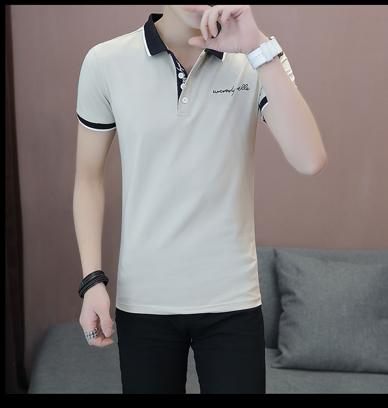 Short-sleeved T-shirt men's fashion casual cotton clothes decorated with multi-color optional 101