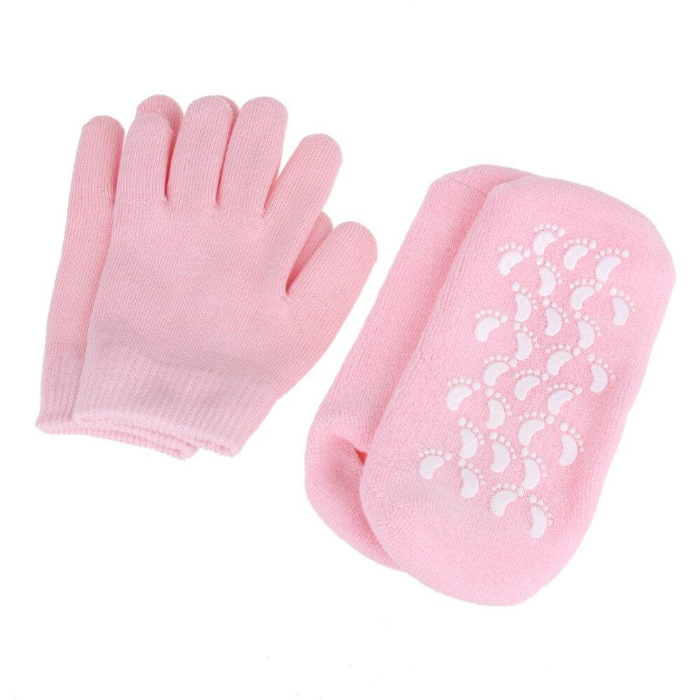 Reusable spa gel Calcetines Guantes hidratante blanqueamiento máscara exfoliante pies AGELESS mano suave máscara Cuidado silicona gel Calcetines