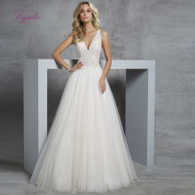 Liyuke 2019 A Line Married Wedding Dress Voile Tulle