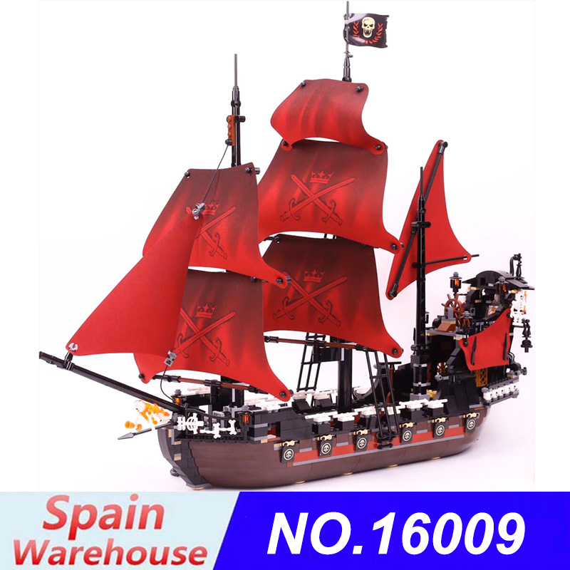16006 16009 Building Blocks Kits Pirates Ship of Caribbean of Black Pearl Ship Compatible 4195 4184