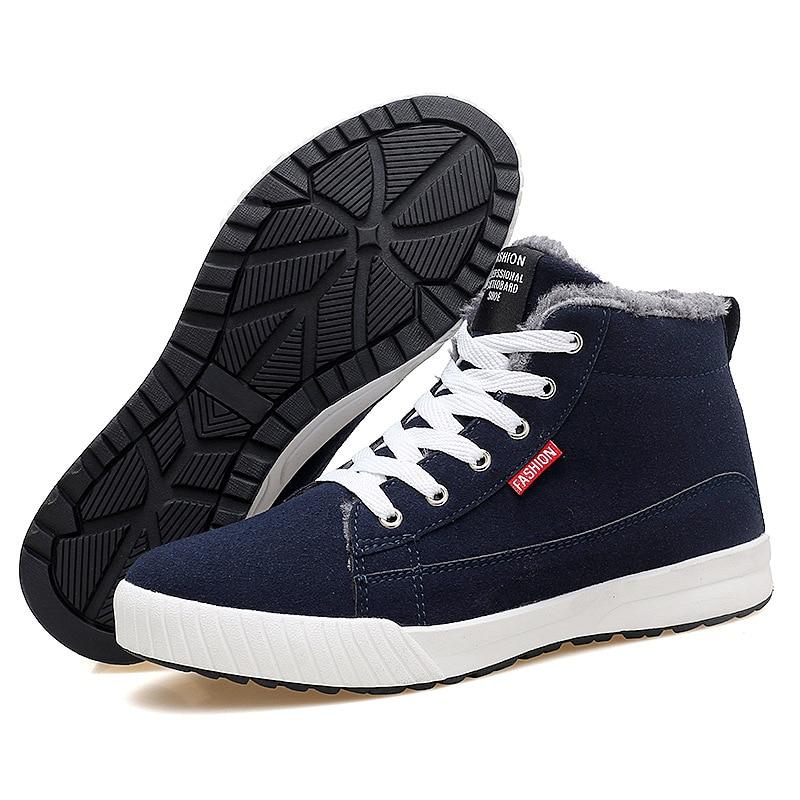 Botas Black red Homens Pelúcia Boots Quentes Up Curto Pele 2019 blue pink Break Sapatos De Neve Ankle Dos Para Inverno Lace Out Mens BIXwHqq