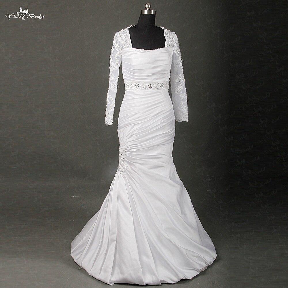 Satin Mermaid Wedding Gown: RSW862 Yiaibridal Real Job Photos Nigeria Pleated Design
