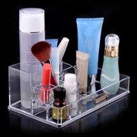 Limpar Maquiagem Acrílico Cosmetic Organizer Caso Titular Display Stand Sge Caixa, Caixa de armazenamento Organizer, caixa Organizertora para Cosméticos