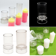 2 Sizes Plastic Clear Round Candle Molds Soap Mold Tool High Temperature Resistance DIY for Candles Making Model Handmade Craft