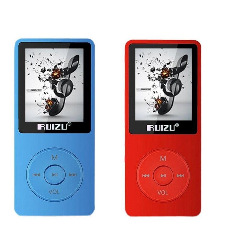 Оригинальный ультратонкий MP3-плееры 8 ГБ ruizu x02 1.8 дюймов Экран играть 80 H MP3 плеера FM Радио E-Book данных регистраторы USB плеер