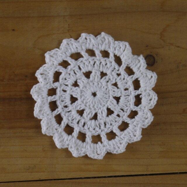 Hecho a mano Crocheted Doilies ronda Servilletas Coasters 3.2 \