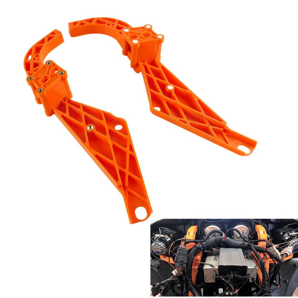 Motorcycle Strong Arm Batwing Inner Fairing Support Brackets For Harley Road Street Glide Dresser FLHX 1993-2013 12