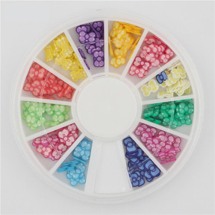 3d Fimo Bow Slices Decoration Nail Art Wheel Free Shipping Fimo Nail