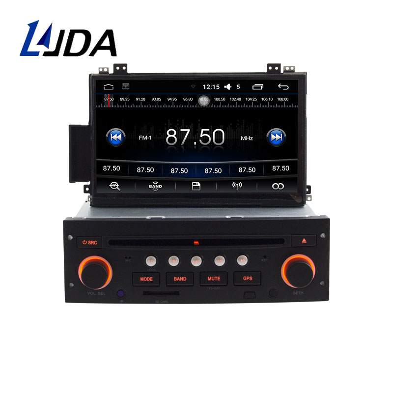 LJDA Android 6.0 Car Multimedia Player For Citroen C5 1 Din Car Radio Autoaudio WIFI GPS Navigation Stereo DVD CD Steering Wheel