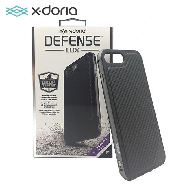 buy online faf93 b481c X doria Verdediging Lux Case voor Apple iPhone 7 Plus Militaire Grade Drop  Getest TPU & Aluminium Premium Beschermhoes Zwart Carbon in X-doria ...
