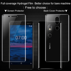 Pełne pokrycie dla Nokia 7 Nokia7 pełny ekran protector i tylna okładka protector Imak wszystkich stałych Hydrogel2 folia ochronna