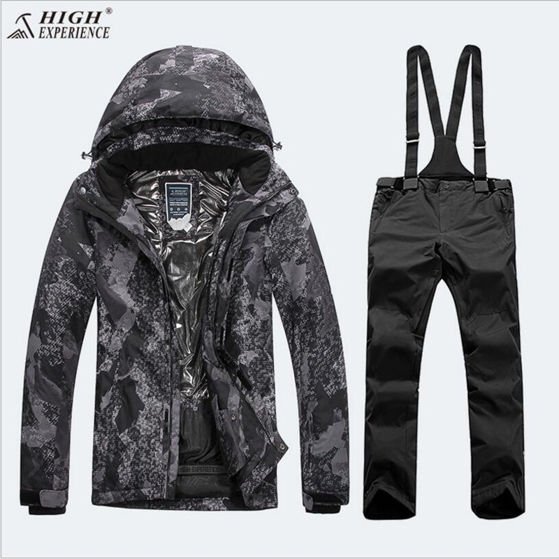 High Experience Men Ski Suit Snowboard Suit Winter Jacket Pant Outdoor Sport Wear Windproof Waterproof Male Skiing Suit Set Coat ветровка versace ветровка