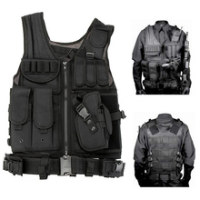 лучшая цена Men's Military Tactical Vest Army Molle Vest Outdoor CS Airsoft Paintball Equipment Body Armor Hunting Vest 4 Colors