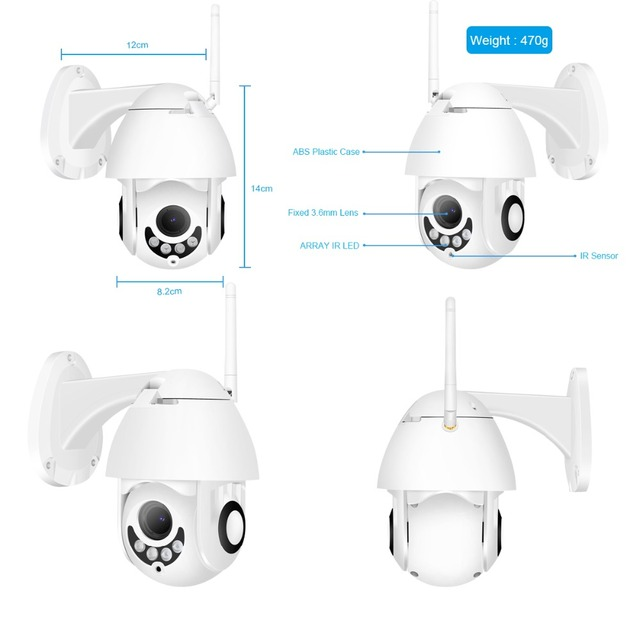 BESDER Full HD 1080P  WiFi IP Camera Wireless Wired PTZ Outdoor Speed Dome CCTV Security Camera App ICSee support Two Way Audio
