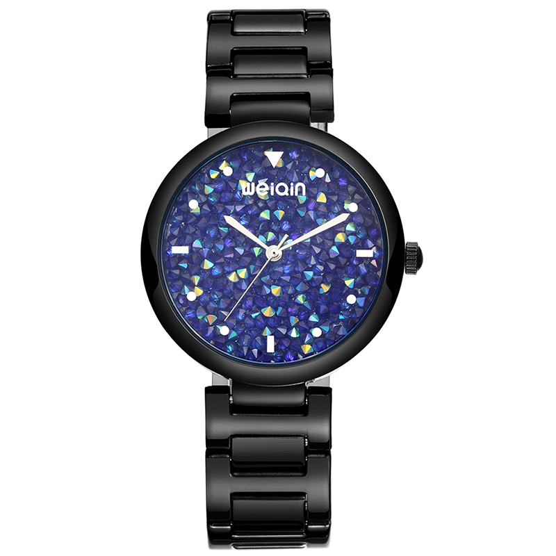 WEIQIN Women Watches Purple Steel Strap Quartz Clock Ladies Fashion Watch Feminino Bracelet Quartz Wrist Watch duoya fashion luxury women gold watches casual bracelet wristwatch fabric rhinestone strap quartz ladies wrist watch clock