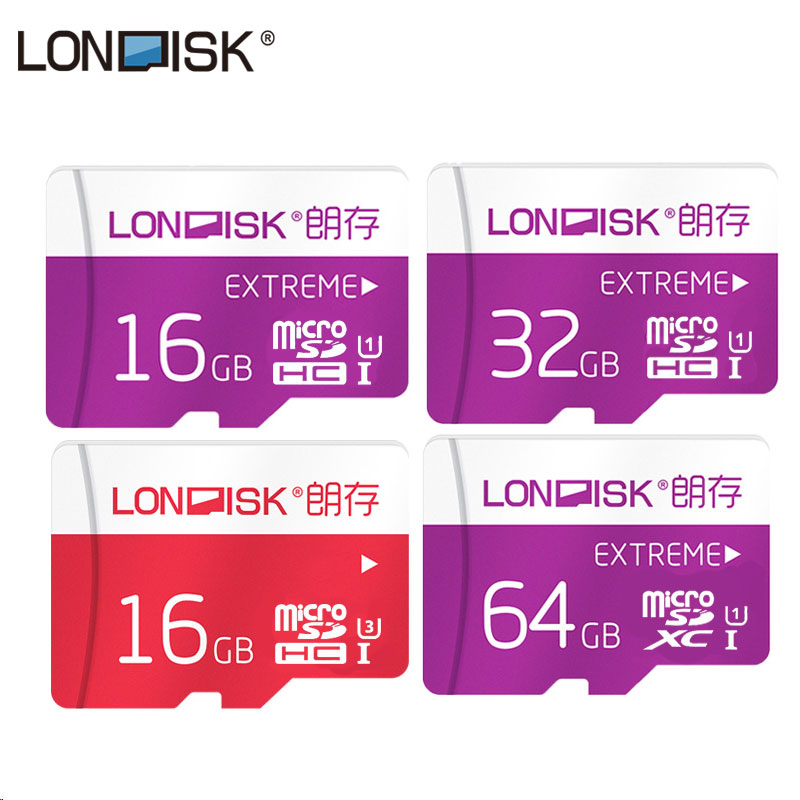 Londisk Real Capacity Flash Memory Card 16GB/32GB/64GB High Speed Micro SD 16/32/64 Class 10 For Mobile Phone Tablet Camera