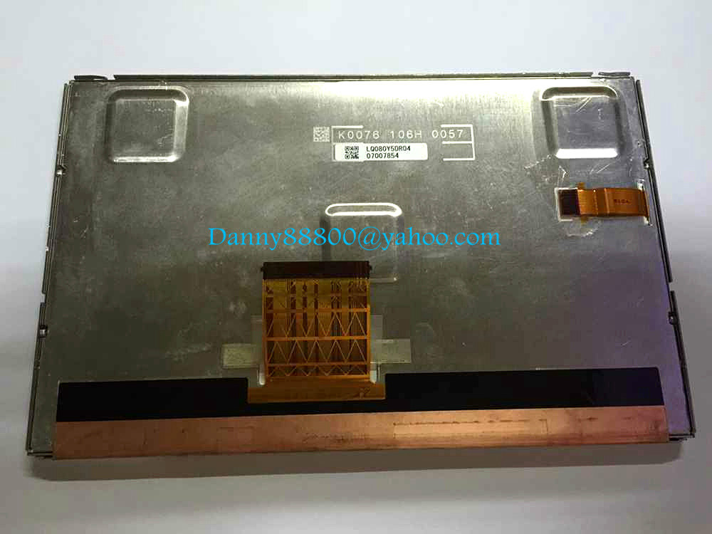 Free shipping LQ080Y5DR04 LQ0DAS2982 Original 8 inch LCD Screen Display Panel for Mercedes Bens GL ML350