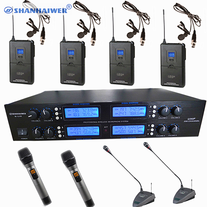 8*100 Channel UHF Professional Wireless Microphone System