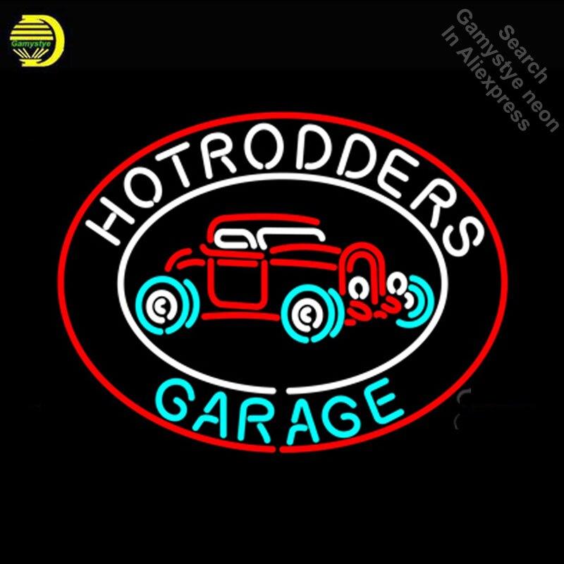 Неоновая вывеска для Hotrodders гараж неоновый свет знак автомобиля рекламировать окна неоновые вывески для продажи свет Dropshipping Ретро Неоновые ... ...