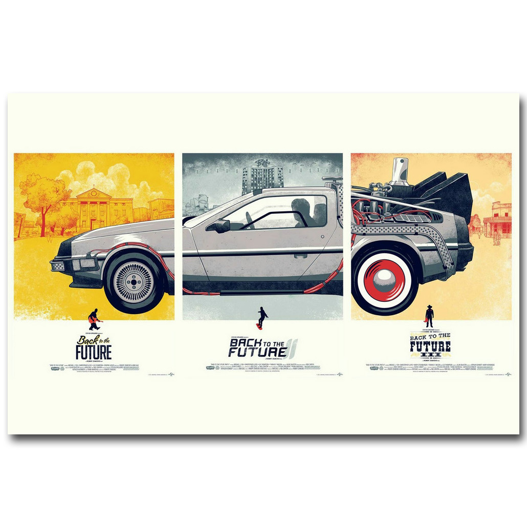Back To The Future 1 2 3 Art Silk Poster Print 13x20 24x36 inch Classic Movie Pictures for Living Room Decoration 016 ...