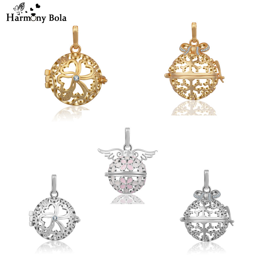 Wholesale New Harmony Bola Locket Cage 20mm Angel Caller Pendant for Baby Chime Ball Locket Cages DIY Jewelry Gift Mix Sale