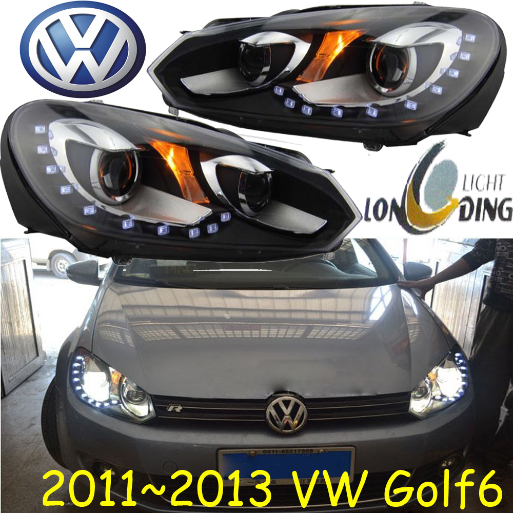 Golf6 headlight,2010~2013 (Fit for LHD,RHD need add 200USD),Free ship!Golf6 fog light,2ps/se+2pcs Ballast,Gol,Golf,Golf 6 cadilla srx headlight 2011 2015 fit for lhd if rhd need add 300usd free ship srx fog light 2ps set 2pcs ballast srx