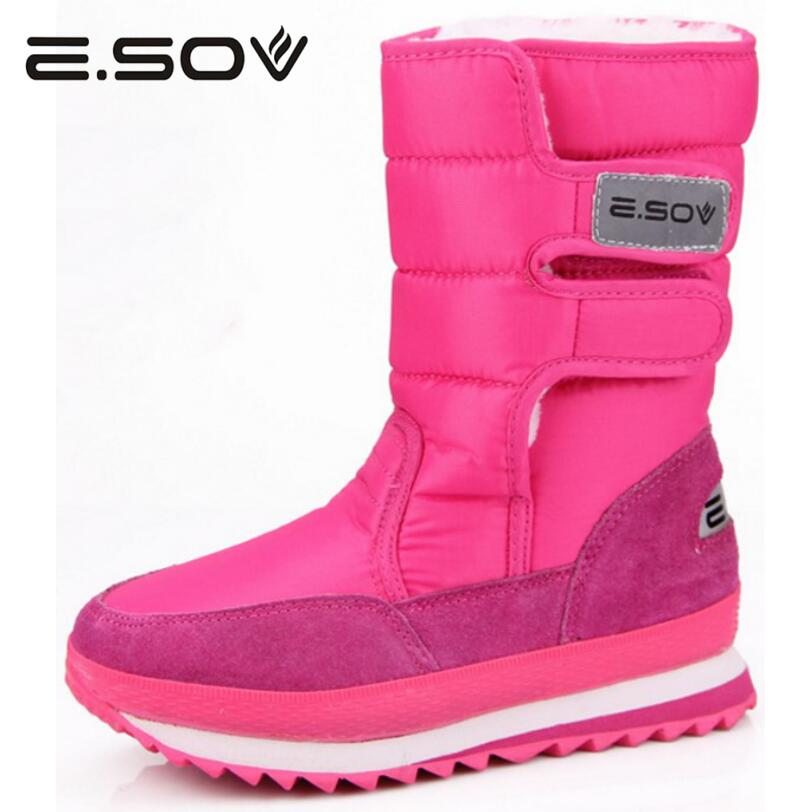 Esov 2017 Plus Size35-45 Woman Snow Boots  Slip On Women Winter Platform Sneakers Boots Fur Inside Mid Calf Boots Women's Shoes absolute legal english book english for international law cd rom