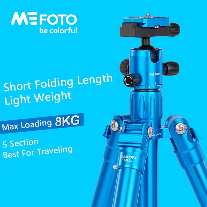 MeFoto MF25 trépied réflexed monopode Selfie bâton Mini Portable trépied pour caméra avec tête à bille 5 Section DHL livraison gratuite
