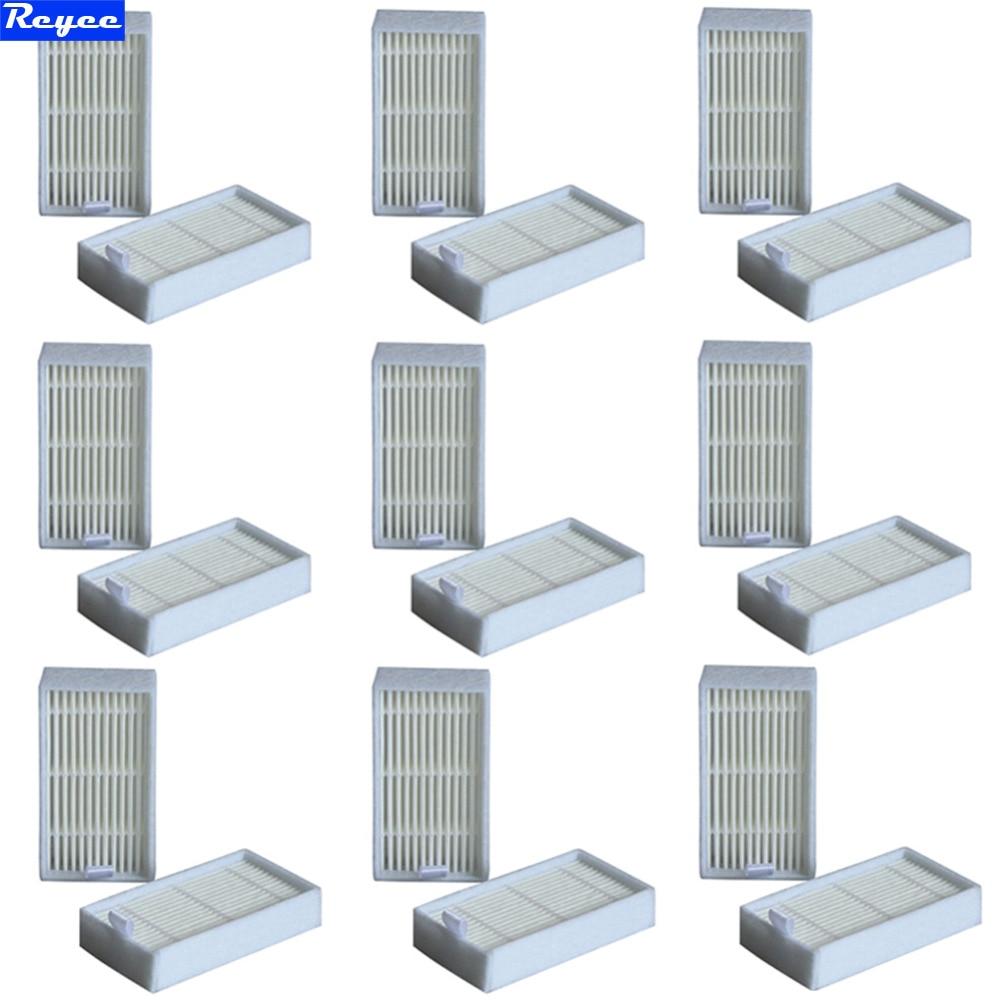 все цены на 18Pcs/Lot dibea x500 White Filters hepa filter for Ecovacs Mirror CR120 Dibea x500 x580 Series Vacuum Cleaner Free shipping онлайн