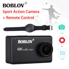 Boblov 2.45″ HD 1080P LCD 12MP 4K WIFI Sports Action Camera DVR DV Cam Waterproof Camcorder Helmet Wireless HDMI+Remote Control