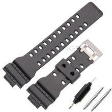 Ремешок из ПУ кожи для Casio G Shock, сменный черный водонепроницаемый браслет для наручных часов, 16 мм, аксессуары