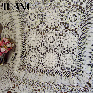Image 4 - IBANO Cotton Tablecloth Handmade Vintage Flowers Design Crocheted Table cloth Lace Coasters Home Table Decoration Crafts