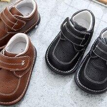 Модные туфли для маленьких мальчиков крики из натуральной кожи для детей от 1 до 3 лет, ручная работа, черная официальная Обувь Весенняя nina sapatos, Униформа, забавная