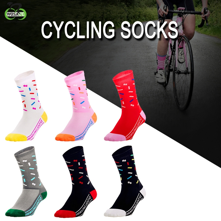 DH SPORTS Professional Cycling Socks Men Women Outdoor Road Bicycle Breathable Socks Running Compression Sport Wicking Socks