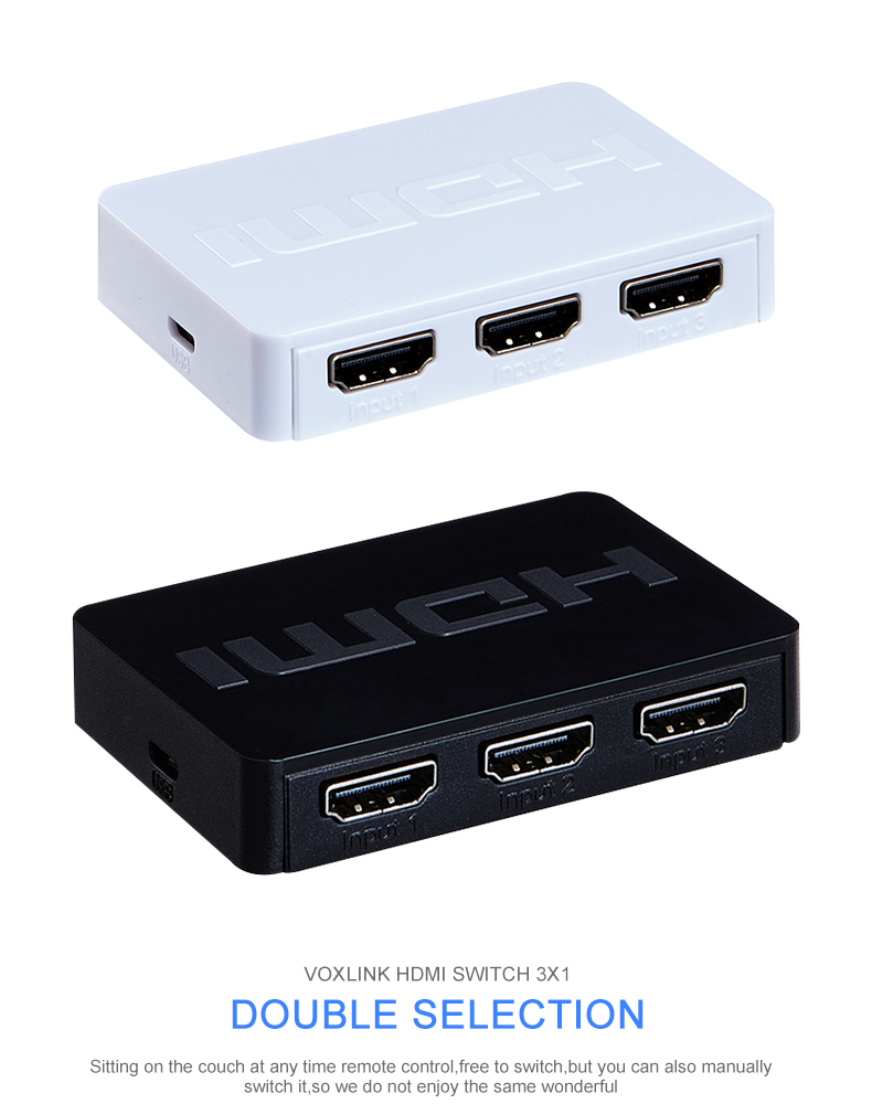 Playvision 3X1 Mini Hdmi Schalter 3 Port Hub Box Signalgeber 3 in 1 ...