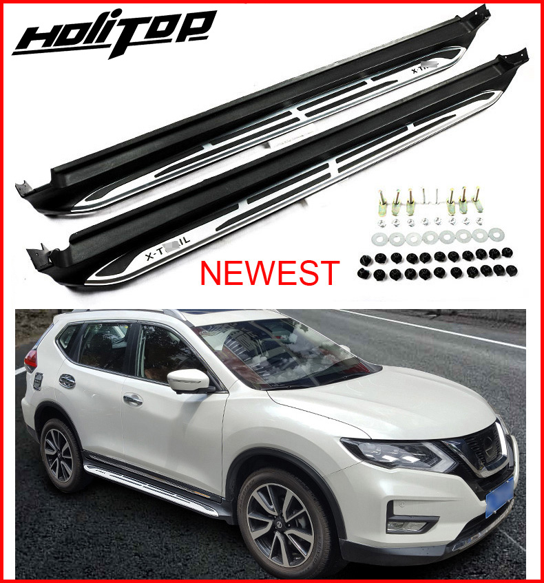 New arrival running board side step nerf bar for Nissan X trail Rouge 2017 2018 durable