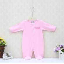 Baby Boys and Girls Spring and autumn Rompers One Piece Clothing for Sleep Newborn Convenient Button Clothes 0-9M toddler suits