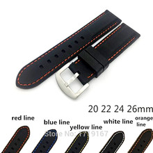 20mm 22mm 24mm 26mm Silicone Watch Band High Quality Wristwatch Strap watch band + 2pcs Spring Bars + Tool все цены