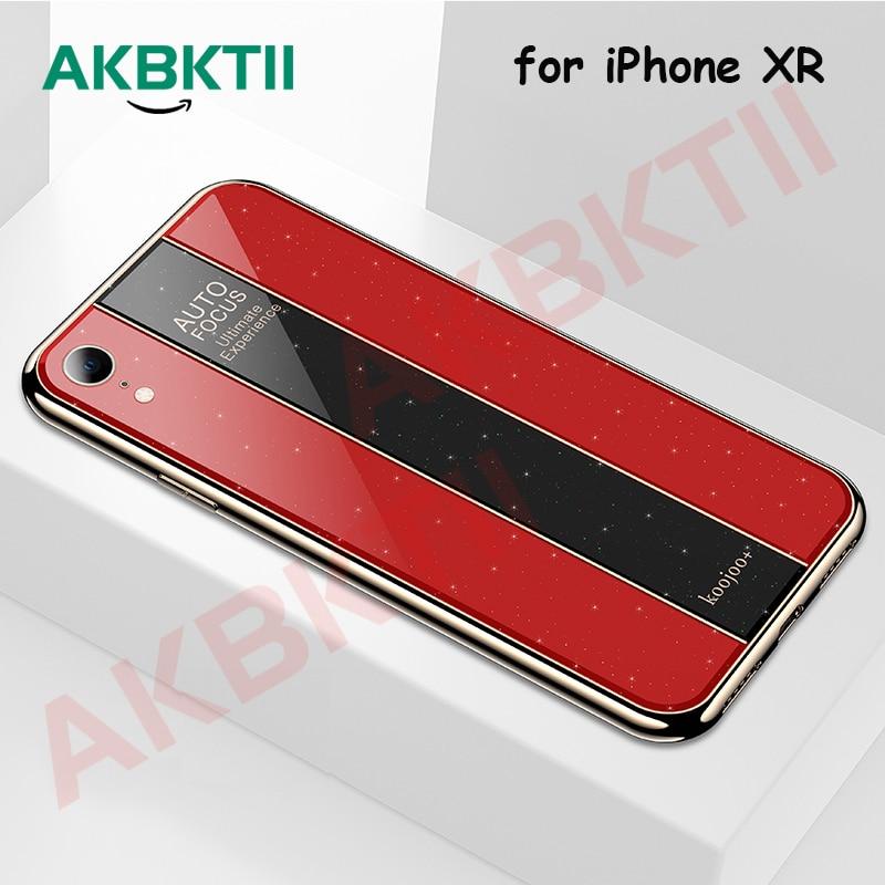 AKBKTII Plexiglass Luxury Plating Case for iPhone XS Max case Xr Anti-scratch Glitter Acrylic Xs