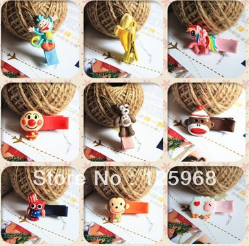 Free Shipping!New Arrive 20pairs/lot Baby Girl Kids Tiny Hair Clip,Animal Design Hairclip,Children Hair Accessary