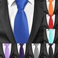 New Solid Ties for Men Casual Skinny Neck Tie Gravatas Business Mens Neckties Corbatas 6 cm Width Groom Tie For Party