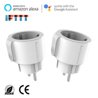 2 pcs EU Wifi Smart Plug Electric Socket , Energy Monitor Timer Switch Compatible with Alexa Amazon Echo Google Home Assistance