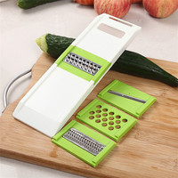 Multifunctional Slicer With 4 Pcs Stainless Steel Blades Vegetable Cutter Peeler Slicer Grater Kitchen Gadgets Cooking