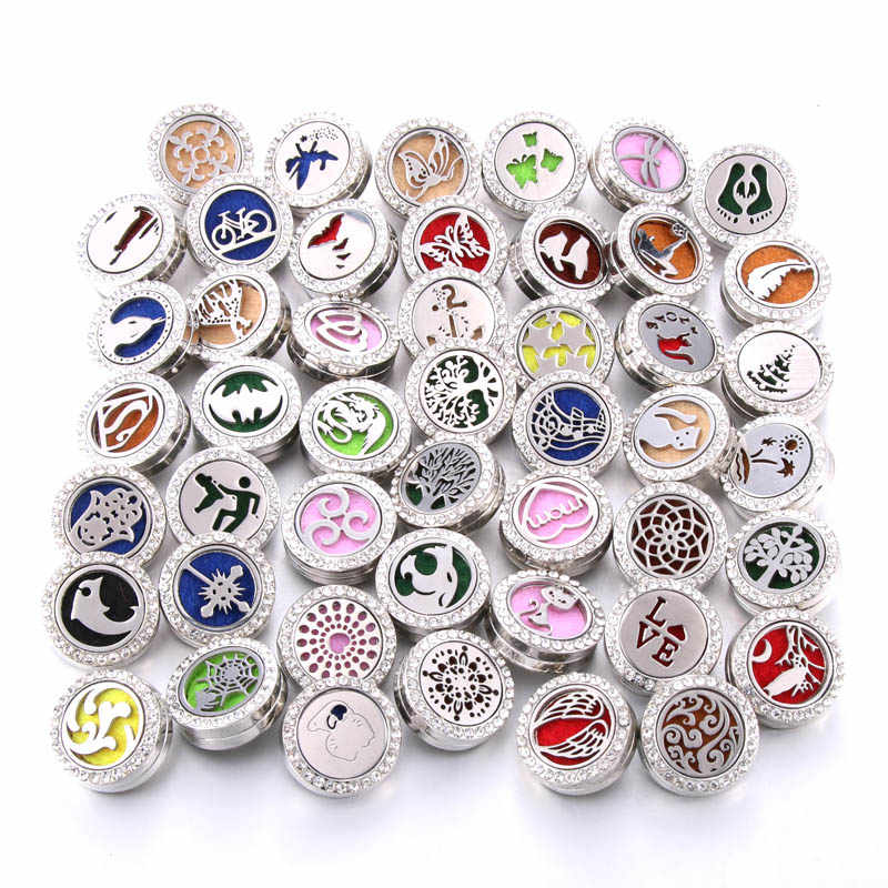 New Aromatherapy Snap Buttons Perfume Locket Magnetic Stainless Steel Essential Oil Diffuser 18mm Snap Button Bracelet Jewelry