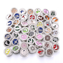 New Aromatherapy Snap Buttons Perfume Locket Magnetic Stainless Steel Essential Oil Diffuser 18mm Button Bracelet Jewelry