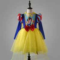 Girls dresses snow white Cosplay princess christmas dress costumes for girls kids clothing Summer clothes Fancy Girl