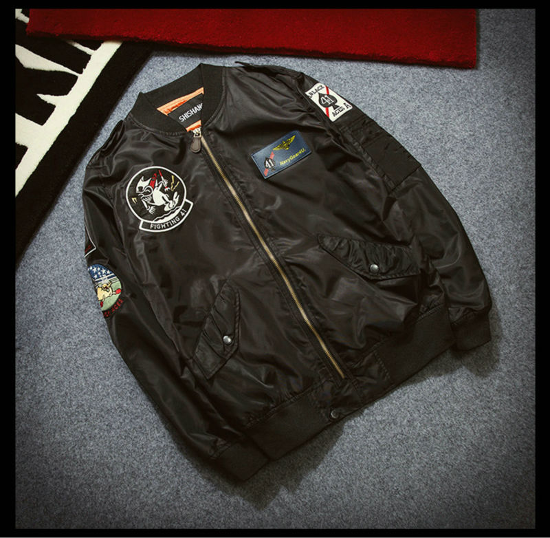 Topdudes.com - Casual Retro Fashion Air Force Flight MA1 Bomber Jacket