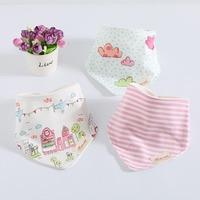 Wholesale 10 Packs Baby Bibs Cotton Cartoon Bib Bavoir Bebes Baberos Bandana Bibs For Babies Girl